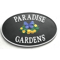 """Icarus Blue"" English Butterfly House Name Sign"