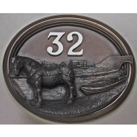 House Sign - Bronze Finish - Canal Boat