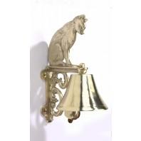 Cast Brass Bell - Cat