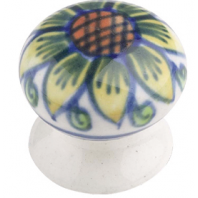 """Sunflower Lodge"" Ceramic Cupboard Knob"