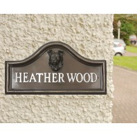 Border Collie house name plaque