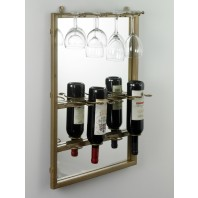 'Acapulco' Mirrored Wine Rack