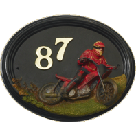 "Hand Painted ""Macio Motocross"" House Sign"