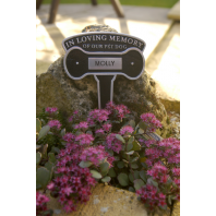 Pet Memorial Sign - Spiked Aluminium Dog