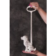 """Puppy Love"" Cast Iron Dog Door Porter"