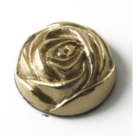 35MM Solid Brass English Rose Motif
