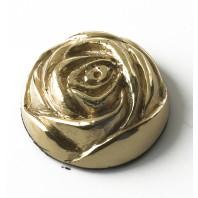 35MM Solid Brass English Rose Motif
