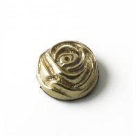 22MM Solid Brass Rose Motif