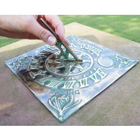 Verdigris 'Four Seasons' Sundial - 200mm
