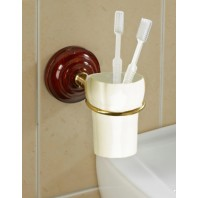 Heritage Rosewood Effect Toothbrush Holder