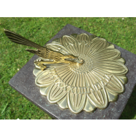 Polished Brass 'Sunflower' Sundial - 200mm