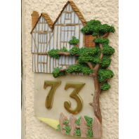 "Hand Painted ""Tudor Mansion"" Architectural House Sign"