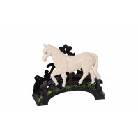 """Sweet Meadow"" Garden Hose Holder with ""Pony"" scene"