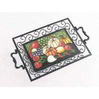 Market garden Iron & Ceramic Tray