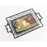 Mellow fruitfulness Iron & Ceramic Tray
