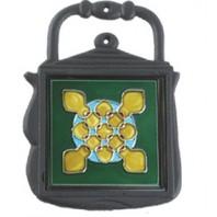 Kettle Kitchen Trivet Green & Yellow Pattern