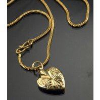 """Winter's Dawn"" Gold Heart Urn Necklace"