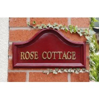 "House Name - Red Traditional Signs (16"" wide)"