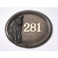 """Harranhal"" Tom Cat House Number Sign"
