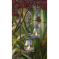 Garden Lantern - Galvanised Shepherds Crook