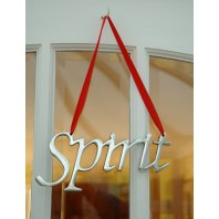 """Spirit"" Christmas Hanging Sign"