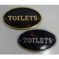 Large Oval Toilet Signs