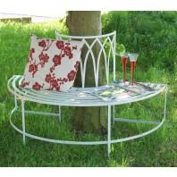 """Maylock Manor"" Wrought Style Iron Tree Bench"