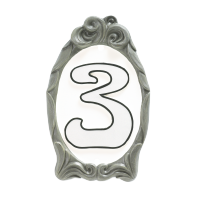 """""""Winter White"""" Reflective Cameo House Sign"""