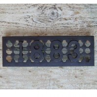 "'1883' Cast Iron Air Brick - 9"" x 3"""