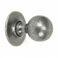"""Clarendon"" Pewter Ball Mortice or Rim Knob Set with Escutcheons"