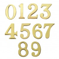 """Classic"" 1.5"" Polished Brass Numbers with ""Fusion- Fix"" Adhesive"