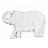 """Ella"" Hand Cast White Elephant Stepping Stones"