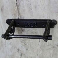 'GNER' Cast Iron Toilet Roll Holder