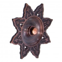 """Hallowed Helia"" Antique Copper Burning Sun Bell Push"