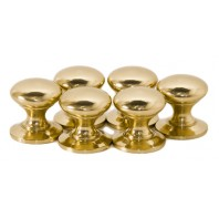 "Polished Brass""Mushroom"" Cabinet Knob"