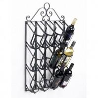 """Jenevieve"" Wall Mounted Wine Rack - Black"