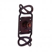 """Maytree Avenue"" Antique Copper Swirl Pattern Bell Push"
