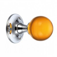 """Paladina"" Amber Glass Ball Mortice Knob"