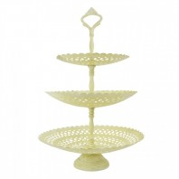 """Perincroft House"" Cream Three Tiered Cake Stand"