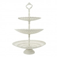 3 Tier White Table Top Cake Display Stand