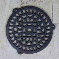 'Sunflower' Cast Iron Air Cover - 5""