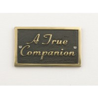 A True Companion Memorial Plaque