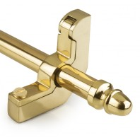 Acorn Finial Polished Brass Stair Rods - 9mm