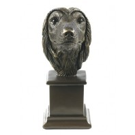 Afghan Hound Bronze Dog Bust