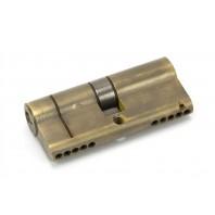 Aged Brass 5-Pin Euro Cylinder & Keys - 35mm