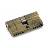 Aged Brass 5-Pin Euro Cylinder & Keys - 30mm