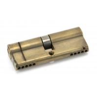 Aged Brass 5-Pin Euro Cylinder & Keys - 40mm