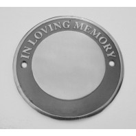 Polished Aluminium Circular Bench Memorial Plaque
