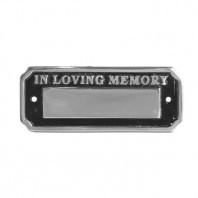 Polished Aluminium In Loving Memory Bench Sign - 18cm