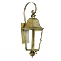 """Cleobury"" Antique Brass Wall Lantern"